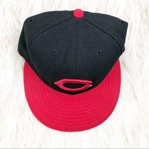 Men's New Era Cincinnati Black Red Hat Size 7!
